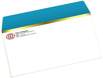 4 Baronial Envelope - Offset Black or PMS - 1, 2 or 3 Colors Printing