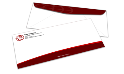 #10 Envelope - Quality Papers - Offset Black & PMS Colors - 1, 2 or 3 Colors Printing