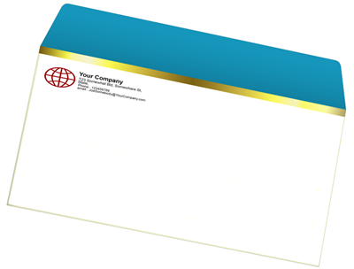A-9 Envelope - Offset Black or PMS - 1, 2 or 3 Colors Printing