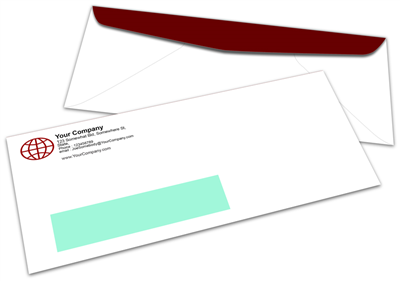 #10 Envelope - Window - Offset Black & PMS Colors - 1, 2 or 3 Colors Printing